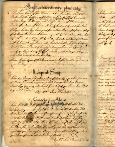 """Manuscript Cookbook Probably Eleanor Parks Shelton (b.1713) Hanover County, Virginia 1735-1745 Paper and ink LOA: 12 1/2""""; WOA: 7 3/4"""" MESDA Purchase Fund (2220)"""