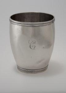 "Tumbler J. S. Heald (w.1800-1820) Baltimore, Maryland 1800-1820 Silver HOA: 3 1/4"" Gift of Frank L. Horton (2024.160)"