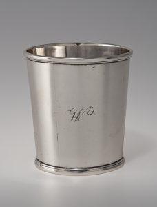 """Beaker Asa Blanchard (d.1838) Lexington, Kentucky 1808-1838 Silver HOA: 3 1/4"""" MESDA Purchase Fund (2033.1)"""
