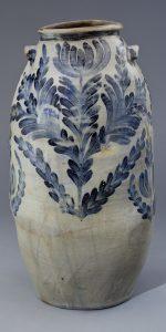"Storage Jar David Jarbour. (w. c. 1820–1841) Alexandria, Virginia 1830 Salt-glazed stoneware with cobalt decoration HOA: 27 3/4"", DIA: 14 1/2"" Gift of Mr. and Mrs. Byron J. Banks (2964)"
