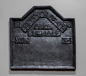 "Fireback AERA Furnace York County, South Carolina 1778 Cast iron HOA: 24""; WOA: 23"" Sprague Foundation Purchase Fund (3119)"