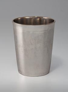 "Beaker Jeremiah Andrews (d.1817) Norfolk, Virginia 1790-1810 Silver and gilt HOA: 3 9/16"" Given in memory of John F. Bivins, Jr. by Dr. and Mrs. Benjamin Caldwell (4698.4)"