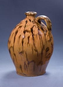 """Jug Attributed to the Cain family of potters Sullivan County, Tennessee 1826 Lead-glazed earthenware HOA: 15 ¾""""; DIA: 37 ½"""" MESDA Purchase Fund (5460)"""