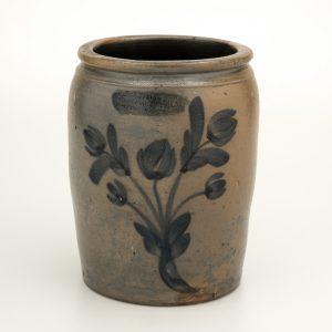 "Jar Thomas Ducey (1822-1867) and John Ducey (1824-1878) Petersburg, Virginia 1855-1867 Salt-glazed stoneware HOA: 8 3/4""; WOA: 7"" The William C. and Susan S. Mariner Collection (5813.32)"