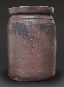 Storage Jar Attributed Moro Phillips (1812-1885) and Sanford Perry (b.1793) for the Trees Point Pottery Charles City County, Virginia 1849-1853 Salt-glazed stoneware Private Collection