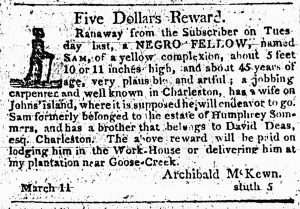 City Gazette and Daily Advertiser March 11, 1809 Charleston, South Carolina MESDA Research Center